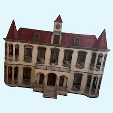 RARE Antique HUGE Dollhouse Quinta MIMI Hotel Inn FAB Ornate For Dolls Miniatures