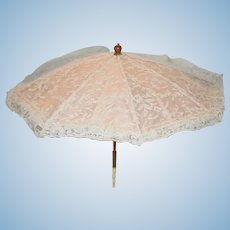 Old Doll Fancy Lace Folding Parasol Umbrella