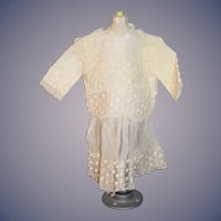 Vintage Doll Dress Drop Waist Chiffon Lace Gorgeous