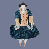 Antique Doll China Head Fancy Countess Dagmar Conta & Boehme Pierced Ears