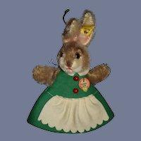 Original Steiff Button Tag Chest Tag Hide a Gift Bunny Rabbit 3173/15 Mohair