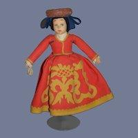 Old Doll Lenci Mascotte Felt Original Clothing Wonderful