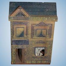 Vintage Miniature Dollhouse Litho Wood Petite Size Sweet For Dolls