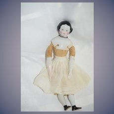 Antique Doll Beautiful China Head Petite Size