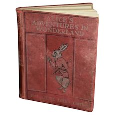 Alice's Adventure in Wonderland The Little Folks Edition By Lewis Carroll W/ 32 Colored Illustrations Miniature Doll Size Book