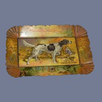 Old Miniature Tray Hunting Dog Dollhouse Advertising LEHIGH RANGES W.F. NEFF