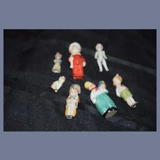 Old Miniature All Bisque Doll Dolls and Characters Unusual Dollhouse Lot