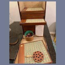 Antique French REGLES Du JEU DE LOTO-DAUPHIN Lotto Game in Original Carton Box W/ Accessories