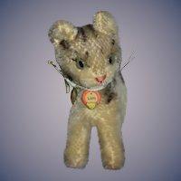 Wonderful Steiff Mohair Lizzy Cat W/ Tag Mohair Sweet