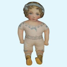 "Vintage Printed Cloth Doll Sweet 23"" Tall"
