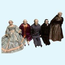 Huge China Head Doll Set Historical Figures George Washington Abe Lincoln Grant Martha Washington & MORE Artist Dolls
