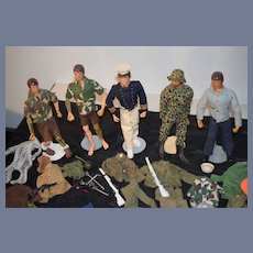 Huge GI Joe Collection Dolls and Accessories Vintage W/ Clothes Figures