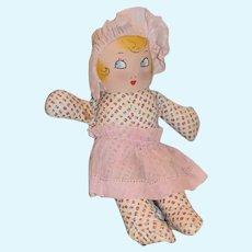 Vintage Doll Cloth Doll Maud Tousey Fangel