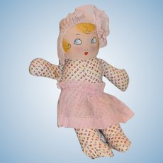 Vintage Doll Cloth Doll Maud Tousey Fangel