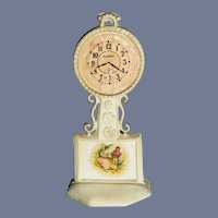 Old Fancy Doll Miniature Dollhouse Clock Celluloid