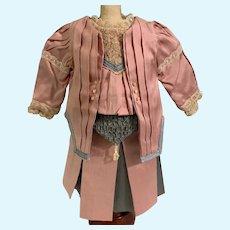 Wonderful Doll Dress Set Jacket Beads Pleats Lace Bows