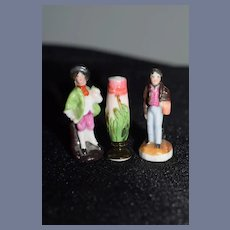 Wonderful Miniature Figurines Dollhouse D'Apres Drun and Nansy Artist Doll Set