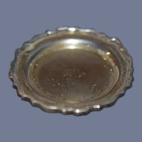 Old Doll Miniature Ornate Tray Sterling Silver Dollhouse