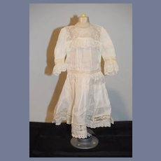 Wonderful Doll Dress White Wear Lace Gorgeous