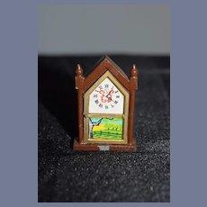 Miniature Metal Doll Mantle Clock Doll Dollhouse