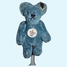 Miniature Steiff Blue Teddy Bear Jointed Club Bear 1998 Mohair