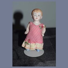 Antique Doll All Bisque Jointed Dollhouse Doll Sweet