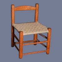 Sweet Doll Wood Miniature Chair Woven Seat Dollhouse
