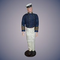 Old GI Joe Doll Figure W/ Unusual Military Outfit