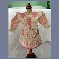Wonderful Doll Dress French Market Drop Waist Pleated Skirt Petite Doll