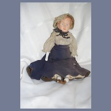 Old Doll Papier Mache Head China Arms and Legs