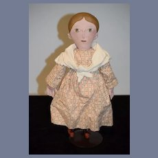 Artist Oil Cloth Doll Signed J.L. Olivia McFarland