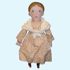 Artist Oil Cloth Doll Signed J.L. Olivia McFarland