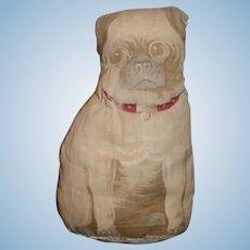 Old Cloth Printed Dog Pug Cute