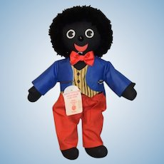 Wonderful PollyDollys Sheila K. Mallin English Golliwog Black Cloth Doll