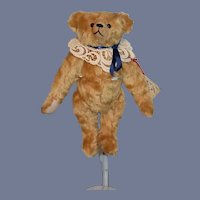 "Vintage Artist Teddy Bear Jointed Mohair Bear-""S""-Ence Steve Schutt Patrick Edward W/ Tag Button Registered"