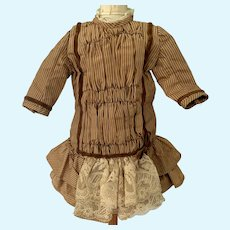 Sweet Doll Dress W/ Old Material Drop Waist Lace French Market
