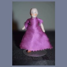 Antique Doll Miniature All Bisque Jointed German Dollhouse