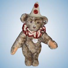 Steiff Teddy Bear Clown  TEDDY CLOWN EAN 404214 Jointed Mohair Button Tag Chest Tag