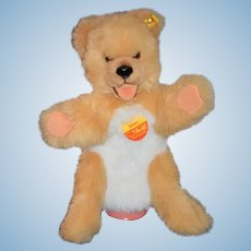 Sweet Steiff Teddy Bear Mimic Large Elbow Puppet Button Tag Chest Tag 3490/45