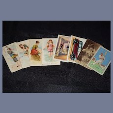Old WmS Kimball & Co's Fancy Bathers Cards Miniature Sweet for Dollhouse