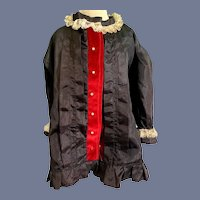 Sweet Doll Dress Ruffle Hem Lace Collar Fancy Vintage Dress Hand Made