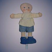 Old Cloth Doll Boy Doll Unusual