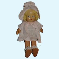 Sweet Mask Face Cloth Doll Dressed in Original Clothing