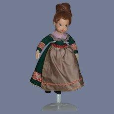 Vintage Doll Cloth Felt Unusual