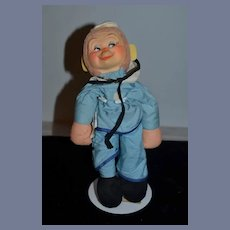 Vintage Doll Knickerbocker Sammy The Sailor Monkey