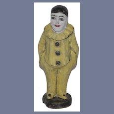 Old Doll Papier Mache Jester Clown Unusual