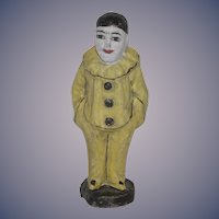 Old Doll Papier Mache Jester Clown Unusual