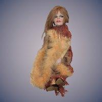 Old Ron Kron Doll Actress Brigitte Bardot Glass Eyes Costume