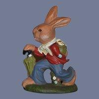 Vintage Marolin Papier Mache German Rabbit W/ Tag