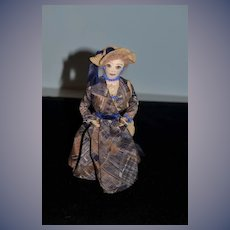 Old Cloth Doll Lana Turner's Eyes and Lips Unusual